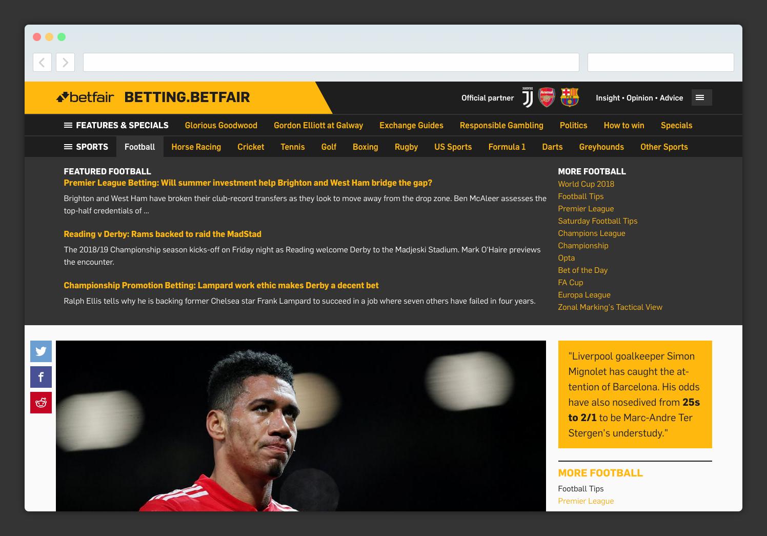Betting Betfair blog network | Lift
